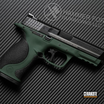 Smith & Wesson M&p Cerakoted Using Jesse James Eastern Front Green