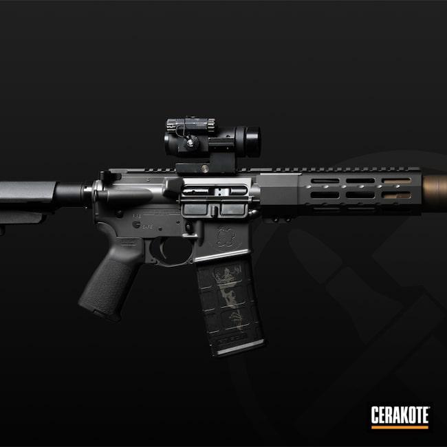 Cerakoted: S.H.O.T,AR Pistol,Cerakote Elite Series,Pistol,Tactical Rifle,Concrete E-160,Midnight Bronze H-294
