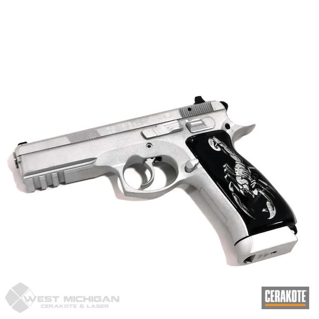 Cerakoted: S.H.O.T,Shimmer Aluminum H-158,CZ 75 SP-01,CZ 75,CZ