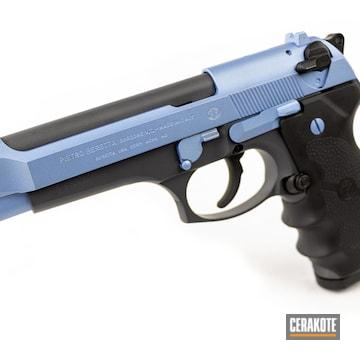 Beretta 92fs Cerakoted Using Sniper Grey And Polar Blue