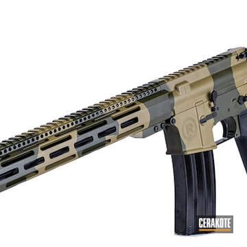 Ar-15 Cerakoted Using Coyote Tan And O.d. Green