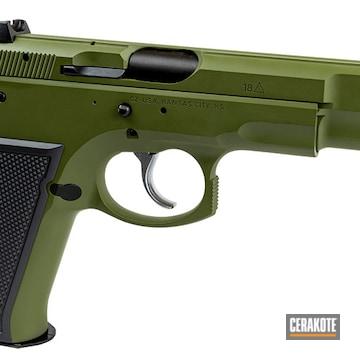 Cz 75 Cerakoted Using Sniper Grey And Multicam® Dark Green