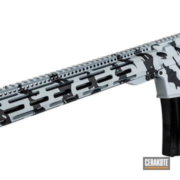 Ar-15 Cerakoted Using Sniper Grey And Battleship Grey