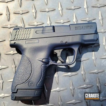 Smith & Wesson M&p Shield Cerakoted Using Northern Lights