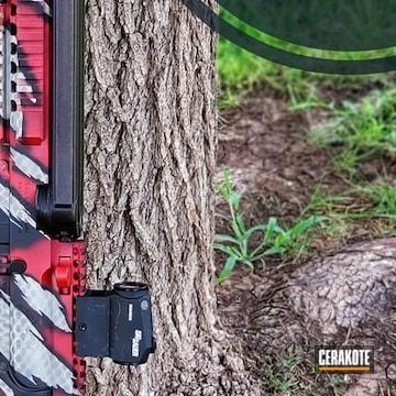 Ar Cerakoted Using Satin Aluminum, Habanero Red And Sniper Grey