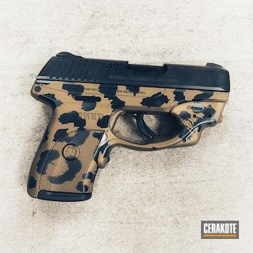 9mm Ruger Cerakoted Using Graphite Black, Burnt Bronze And Gold