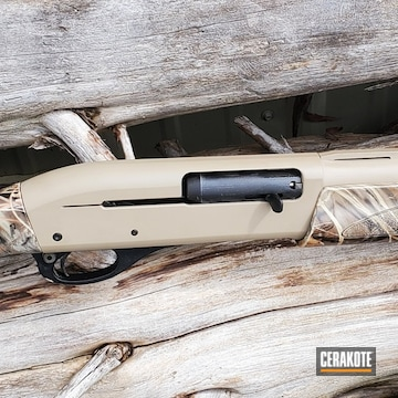 Remington 870 Cerakoted Using Mcmillan® Tan