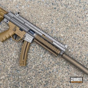 Gsg-16 Cerakoted Using Noveske Tiger Eye Brown, Titanium And Burnt Bronze
