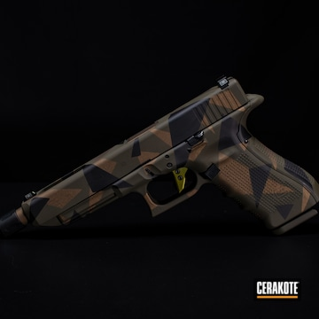 Glock Cerakoted Using Graphite Black, Burnt Bronze And Mil Spec O.d. Green