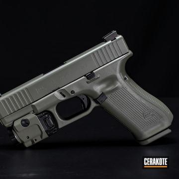 Glock Cerakoted Using Jungle And Blackout