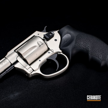 Charter Arms Revolver Cerakoted Using Shimmer Aluminum And Graphite Black