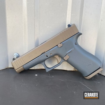 Glock Cerakoted Using Smoke And Fde