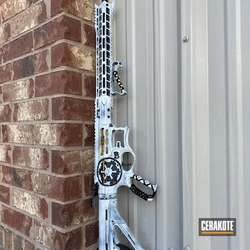 Star Wars Themed F1 Firearms Ar Cerakoted Using Bright White And Graphite Black