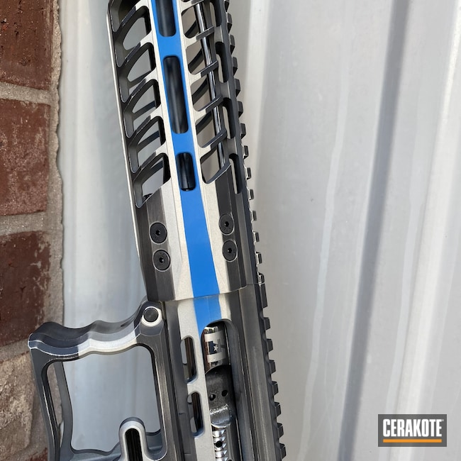 Cerakoted: S.H.O.T,Shimmer Aluminum H-158,Sniper Grey H-234,NRA Blue H-171,Thin Blue Line,F1 Firearms,Thin Blue Line Battleworn,Thin Blue Line Flag