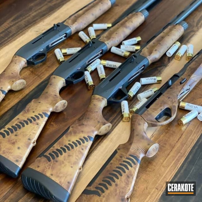 Cerakoted: S.H.O.T,Noveske Tiger Eye Brown H-187,Leather,Benelli M2,Graphite Black H-146,Ostrich,BARRETT® BROWN H-269,Benelli,Duck Gun,Benelli Vinci
