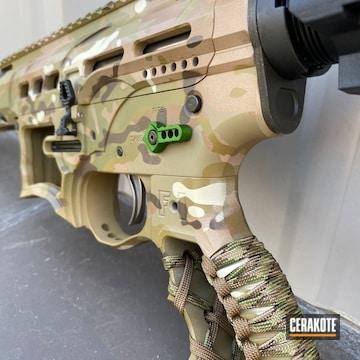 Multicam F1 Firearms Ar Cerakoted Using Multicam® Dark Brown, Multicam® Pale Green And Multicam® Bright Green