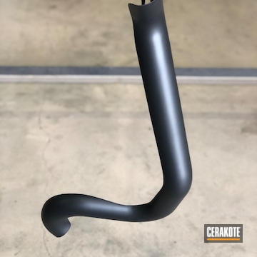 Exhaust Tube And Guard Cerakoted Using Cerakote Glacier Black