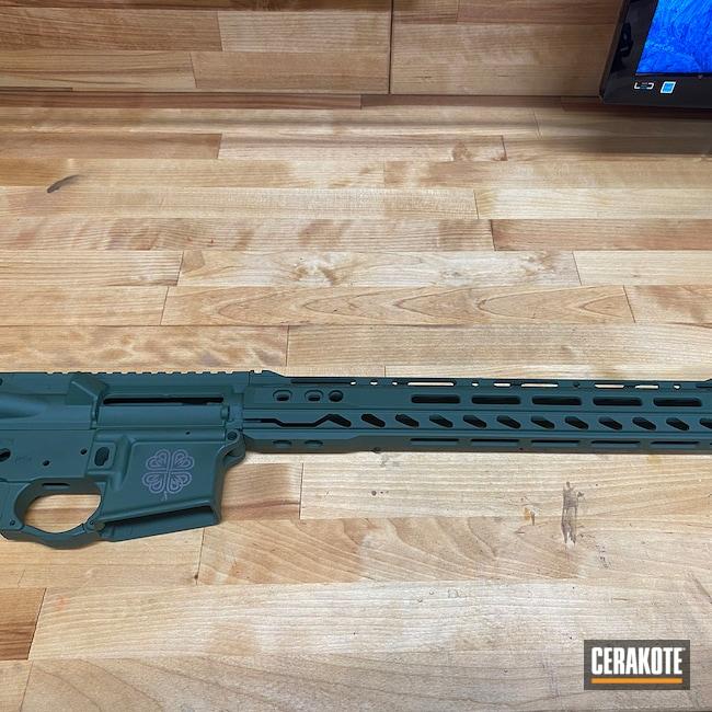 Cerakoted: S.H.O.T,Highland Green H-200,Custom,Tungsten H-237,Celtic,AR-15