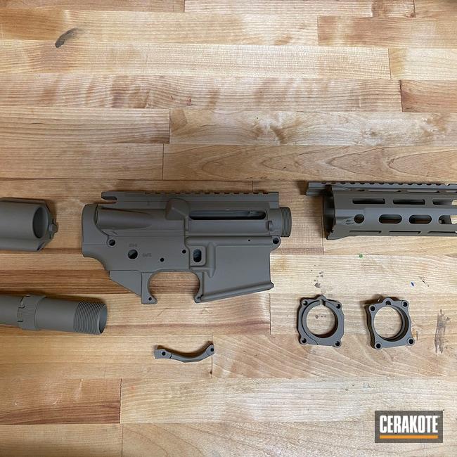 Cerakoted: S.H.O.T,Coyote Tan H-235,AR Pistol,AR-15