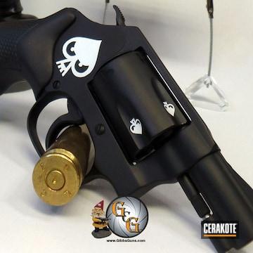 Revolver Cerakoted Using Stormtrooper White And Graphite Black