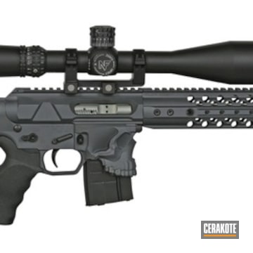 Spikes Tactical Ar-15 Cerakoted Using Sniper Grey