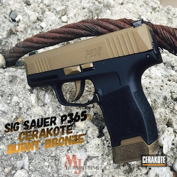 Sig P365 Cerakoted Using Burnt Bronze