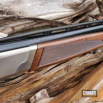 12 Gauge Browning Shotgun Cerakoted Using Gloss Black