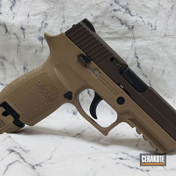 Custom Pistol Cerakoted Using Barrett® Bronze