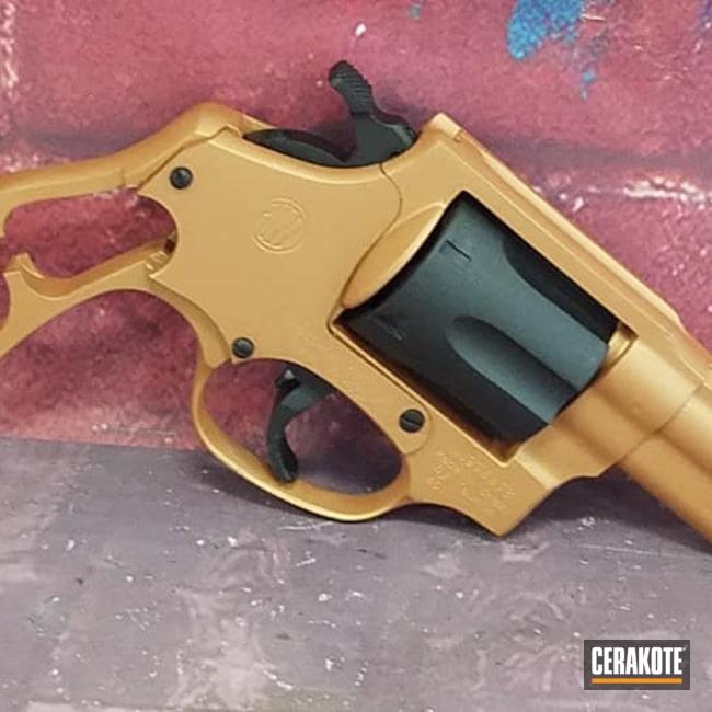 Cerakoted: S.H.O.T,.357,COPPER H-347,Taurus Revolver,Graphite Black,Graphite Black H-146,Revolver,Copper,Gun Parts,Handgun