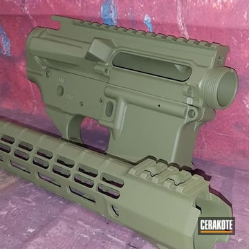 Ar Builders Set Cerakoted Using Multicam® Dark Green