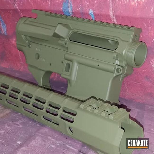 Cerakoted: S.H.O.T,AR Project,Tactical Rifle,Gun Parts,MULTICAM® DARK GREEN H-341,AR Build,AR-15