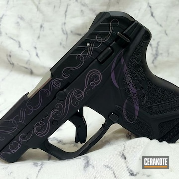 Ruger Cerakoted Using Graphite Black And Bright Purple