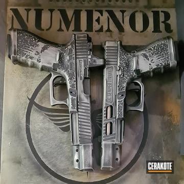 Custom Glocks Cerakoted Using Graphite Black And Satin Mag