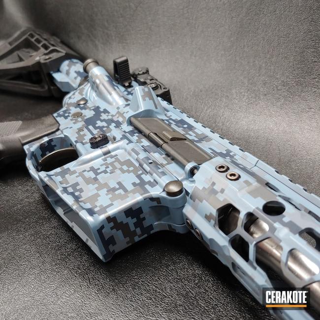 Cerakoted: S.H.O.T,Custom Color,Bright White H-140,Sniper Grey H-234,AR Pistol,NRA Blue H-171,Digital Camo,Blue Camo,Smith & Wesson,KEL-TEC® NAVY BLUE H-127,BATTLESHIP GREY H-213,Camouflage,M&P15