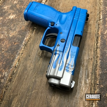 Springfield Armory Xd 40 Cerakoted Using Ridgeway Blue And Smith & Wesson® Grey