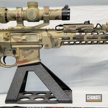 Multicam Noveske Ar-15 Cerakoted Using Multicam® Dark Brown, Patriot Brown And Highland Green