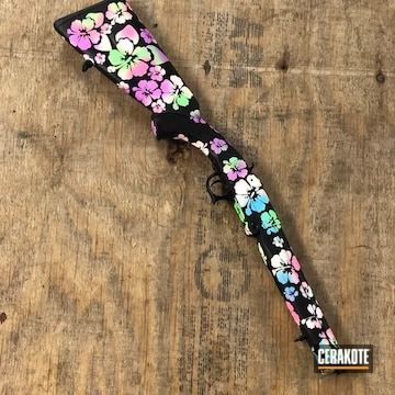 Boogie Camo Fedarm Ss12 Shotgun Cerakoted Using Pink Sherbet, Blue Raspberry And Bright White
