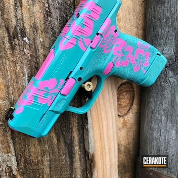 Springfield 9mm Hellcat Cerakoted Using Prison Pink