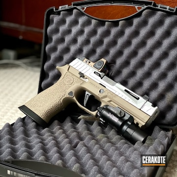 Sig Sauer Pistol Cerakoted Using Satin Aluminum