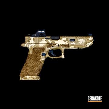 Multicam Glock Cerakoted Using Mcmillan® Tan, Glock® Fde And Magpul® Flat Dark Earth