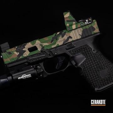 Custom Multicam Glock Cerakoted Using Highland Green And Graphite Black