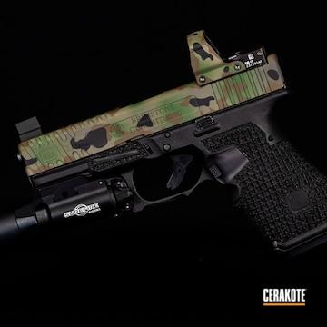 Multicam Glock Cerakoted Using Highland Green And Graphite Black