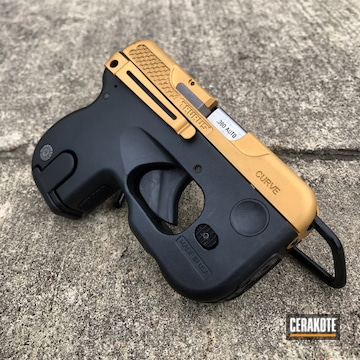 Taurus Curve 380 Cerakoted Using Gold