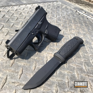 Glock 43 And Knife Cerakoted Using Tungsten