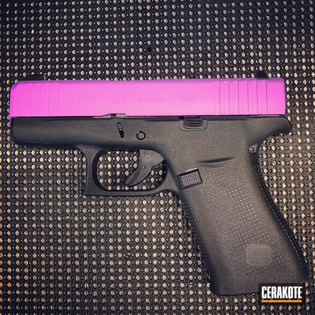 Cerakoted: S.H.O.T,9mm,Glock 43X,Glock,PURPLEXED H-332,43x
