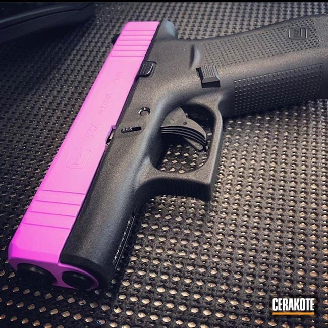 Glock 43x Cerakoted Using Purplexed