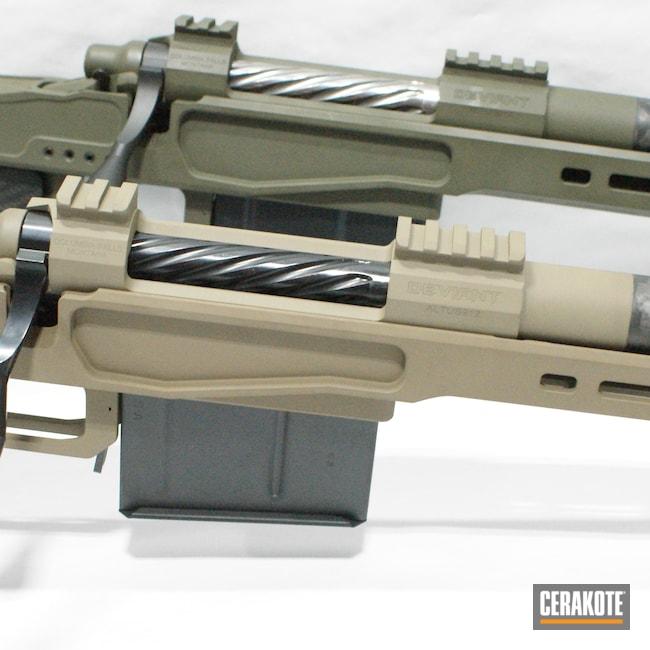 Cerakoted: S.H.O.T,Custom Rifle,Surefire Muzzle Brake,MAGPUL® FDE C-267,O.D. Green H-236,Proof Research,6.5 PRC,Deviant,XLR Chasis