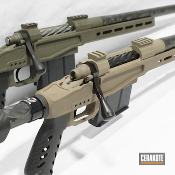 Custom Bolt Action Rifles Cerakoted Using O.d. Green And Magpul® Fde