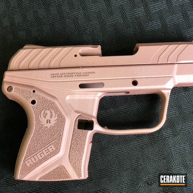 Cerakoted: S.H.O.T,LCP,Ruger Precision,ROSE GOLD H-327,Handgun
