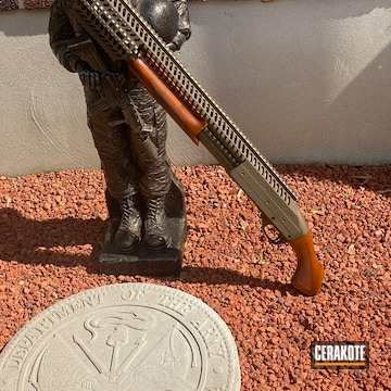 Custom Shotgun Cerakoted Using Burnt Bronze